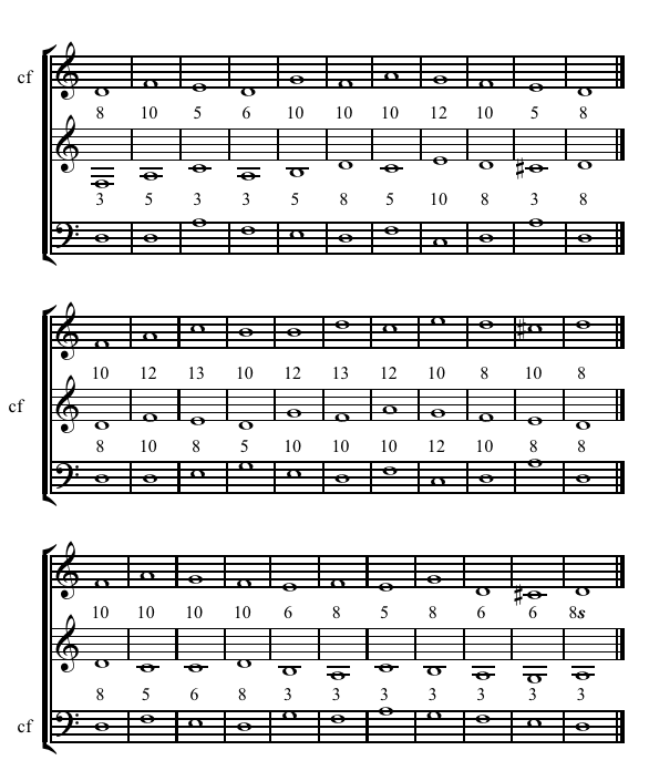 2N 3-part Counterpoint